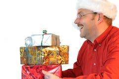 愉快的圣诞老人 库存图片