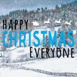 愉快的圣诞节大家激动人心的行情 库存照片