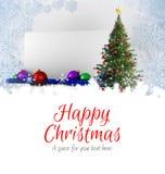 愉快的圣诞节消息 库存图片