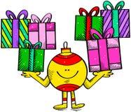 愉快的圣诞节球 免版税库存图片