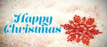愉快的圣诞节的综合图象 免版税库存图片