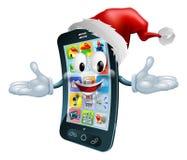 愉快的圣诞节移动电话 免版税库存图片