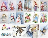 愉快的圣诞节童话故事 皇族释放例证