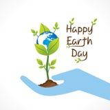 愉快的地球日设计 免版税库存照片