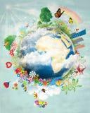 愉快的地球设计 免版税库存照片