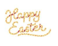 愉快的复活节被说明的字法 免版税图库摄影