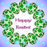 愉快的复活节假日怂恿与在圈子安排的绿色圈子 库存图片