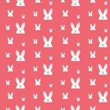 愉快的复活节兔子兔宝宝桃红色无缝的背景 库存图片