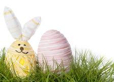 愉快的复活节兔子鸡蛋 库存照片