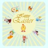 愉快的复活节兔子 免版税库存图片