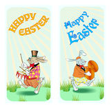 愉快的复活节兔子c 免版税库存照片