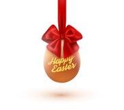 愉快的复活节卡片用鸡蛋和弓 也corel凹道例证向量 向量例证