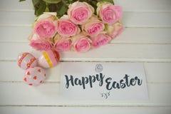 愉快的复活节商标的综合图象 免版税库存照片
