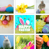 愉快的复活节图表的综合图象 库存照片