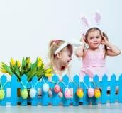 愉快的复活节女孩 免版税库存图片