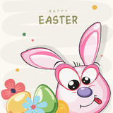 愉快的复活节庆祝的贺卡设计