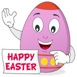 愉快的复活节彩蛋漫画人物 库存照片