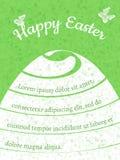 愉快的复活节礼品券,传染媒介模板 免版税库存照片