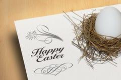愉快的复活节装饰背景 免版税库存图片