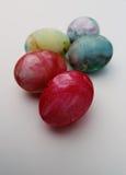 愉快的复活节颜色鸡蛋 免版税库存图片