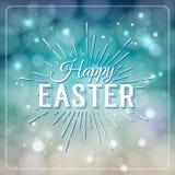 愉快的复活节贺卡 手拉的书信设计标签 免版税库存图片