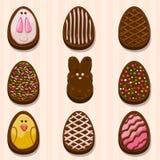 愉快的复活节Choclate曲奇饼 免版税库存照片