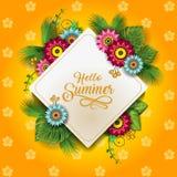愉快的夏天开花C 库存例证