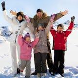 愉快的大系列在冬天 库存图片