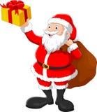 愉快的大袋圣诞老人 免版税库存图片