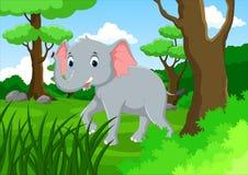 愉快的大象动画片 库存照片