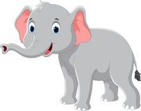 愉快的大象动画片 免版税图库摄影