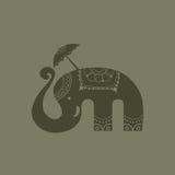 愉快的大象泰国传染媒介 免版税图库摄影