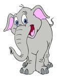 愉快的大象 免版税库存照片