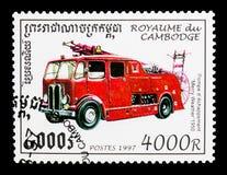 愉快的天气, 1950年,消防车serie,大约1997年 免版税图库摄影