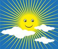 愉快的太阳背景 免版税库存照片