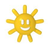 愉快的太阳 库存图片