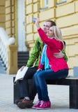 愉快的夫妇旅行假期假日 浪漫 库存照片
