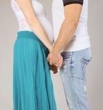 愉快的夫妇,怀孕 免版税库存照片
