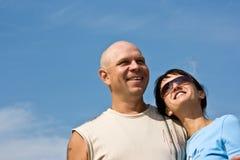 愉快的夫妇 免版税图库摄影
