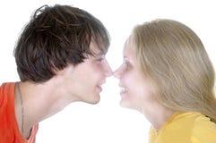 年轻愉快的夫妇 免版税库存图片