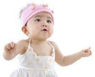 愉快的女婴 免版税库存图片