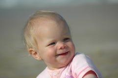愉快的女婴 图库摄影
