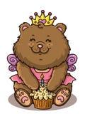 愉快的女孩熊 皇族释放例证