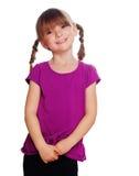 愉快的女孩矮小retty微笑 免版税库存图片