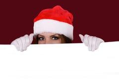 愉快的女孩纵向有圣诞节的 库存图片