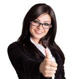 愉快的女实业家 免版税库存照片