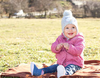 愉快的女婴 免版税图库摄影