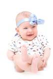 愉快的女婴 免版税库存照片