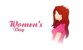 愉快的妇女的天庆祝的美丽的女孩 免版税图库摄影