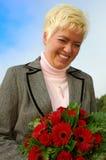 愉快的妇女年轻人 免版税库存照片